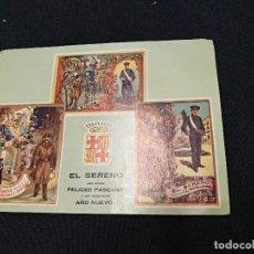Coleccionismo Papel Varios: FELICITACION DE NAVIDAD - EL SERENO LES DESEA FELICES PASCUAS. Lote 124629923