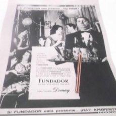 Coleccionismo Papel Varios: RECORTE PUBLICIDAD AÑOS 60 - BRANDY - COÑAC FUNDADOR. Lote 124684891