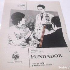 Coleccionismo Papel Varios: RECORTE PUBLICIDAD AÑOS 60 - BRANDY - COÑAC FUNDADOR. Lote 124684911