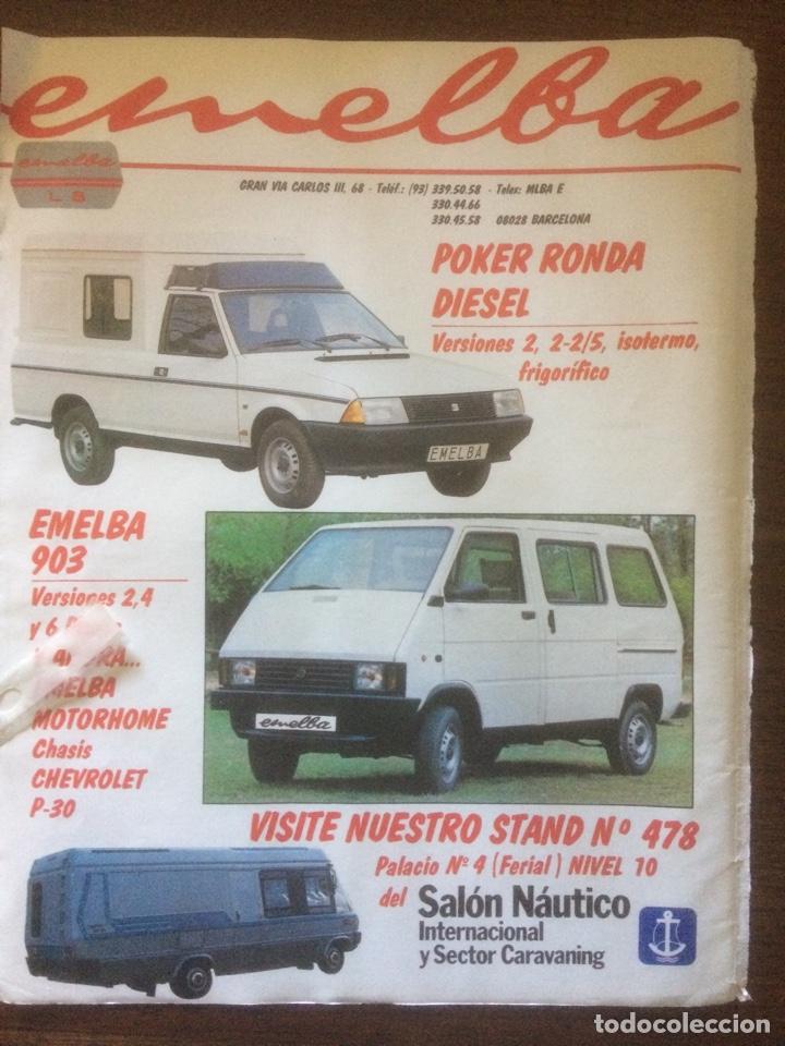 PUBLICIDAD AUTOMÓVIL EMELBA DE 1986 SEAT RONDA (Coleccionismo en Papel - Varios)