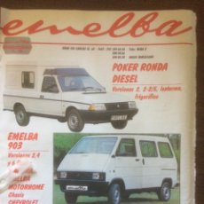 Coleccionismo Papel Varios: PUBLICIDAD AUTOMÓVIL EMELBA DE 1986 SEAT RONDA. Lote 124798086