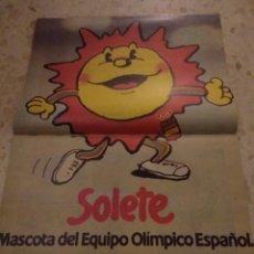 Coleccionismo Papel Varios: POSTER DE REVISTA DE SOLETE MASCOTA DEL EQUIPO OLIMPICO ESPAÑOL. Lote 124990003