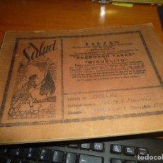 Coleccionismo Papel Varios: CUADERNO O LIBRETA ESCOLAR DE 1939 CON PUBLICIDAD EN CUBIERTAS, ASIGNATURA INGLES. Lote 125932279