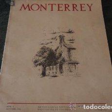 Coleccionismo Papel Varios: REVISTA MONTERREY, Nº 3, SALAMANCA, OCTUBRE DE 1956.. Lote 126286283