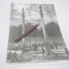 Coleccionismo Papel Varios: RECORTE AÑOS 60 - ALAMEDA DE HERCULES SEVILLA 1810 , ATRAS TORRE DEL ORO 1830. Lote 126897887