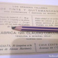 Coleccionismo Papel Varios: RECORTE PUBLICIDAD AÑO 1927 - LOS GRANDES TALLERES DE TINTE Y QUITAMANCHAS MÁS ECONÓMICOS - MADRID . Lote 127012635