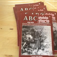 Coleccionismo Papel Varios: ABC DOBLE DIARIO DE LA GUERRA CIVIL.FASCICULOS DEL 1 AL 9.. Lote 127239723