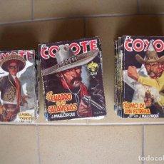 Coleccionismo Papel Varios: EL COYOTE.-J. MALLORQUI.-NOVELAS.-LOTE DE 50 NOVELAS EL COYOYE.-AÑOS 40.. Lote 127509831