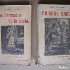 Coleccionismo Papel Varios: MANUEL GONZALEZ.-LOS HERMANOS DE LA COSTA.-JOSE ECHEGARAY.-DRAMAS VARIOS.-NOVELAS ILUSTRADAS.. Lote 127511759