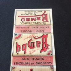 Coleccionismo Papel Varios: LIBRITO PAPEL FUMAR BAMBU 500 HOJAS. Lote 127612140