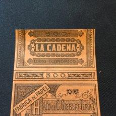 Coleccionismo Papel Varios: LIBRITO PAPEL FUMAR LA CADENA 300. Lote 267552844