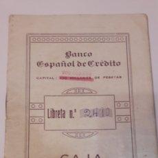 Coleccionismo Papel Varios: LIBRETA CAJA DE AHORROS BANCO ESPAÑOL DE CREDITO. Lote 127779919
