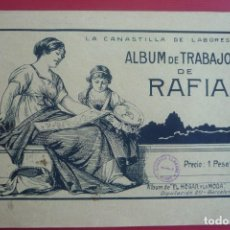 Coleccionismo Papel Varios: 'EL HOGAR Y LA MODA'. ALBUM Nº 2 PARA TRABAJOS EN RAFIA. 24 PAG. CON MODELOS DIFERENTES Y ORIGINALES. Lote 127864027