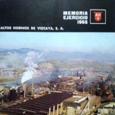 Coleccionismo Papel Varios: ALTOS HORNOS DE VIZCAYA. MEMORIA EJERCICIO 1965.. Lote 128316492