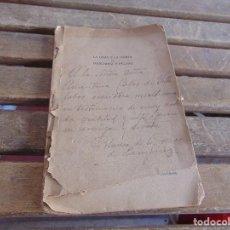 Coleccionismo Papel Varios: LA OBRA Y LA MISION DE MANENDEZ Y PELAYO CONFERENCIA SE BLANCA DE LOS RIOS DEDICADA Y FIRMADA 1915. Lote 128357191