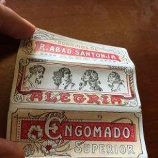Coleccionismo Papel Varios: PAPEL FUMAR ALEGRÍA. Lote 267552744