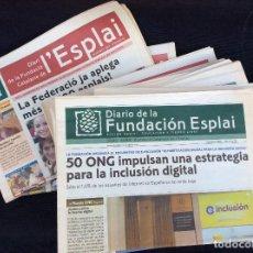 Coleccionismo Papel Varios: DIARIO DE LA FUNDACION ESPLAI .22 PERIODICOS. Lote 128824787