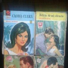 Coleccionismo Papel Varios: LOTE 4 NOVELAS BRUGUERA AÑOS 50 COLECCIÓN LLUVIA DE ESTRELLAS CAMELIA AMAPOLA. Lote 129254815