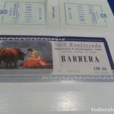 Coleccionismo Papel Varios: ENTRADA PLAZA DE TOROS PONFERRADA ( 6 SEPTIEMBRE 1995 ) COLOSAL CORRIDA DE TOROS. Lote 129557919