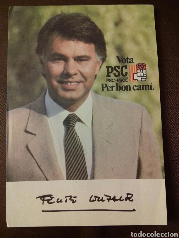 FOTO DE FELIPE GONZÁLEZ. CAMPAÑA PSC. (Coleccionismo en Papel - Varios)