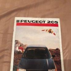 Coleccionismo Papel Varios: CATALOGO PUBLICIDAD DE PEUGEOT 205. Lote 130287467