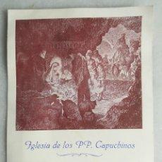 Coleccionismo Papel Varios: CAPUCHINOS DE OLOT. CAPUTXINS D'OLOT. 1951-1952. FELICITACIÓN Y PROGRAMA. Lote 130524622