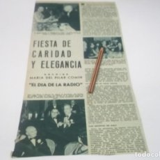 Altri oggetti di carta: RECORTE AÑOS 60 - FIESTA DE CARIDAD Y ELEGANCIA , LOCUTORES DE RADIO DE ESPAÑA , SALVADOR DALÍ. Lote 130619310