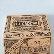 Coleccionismo Papel Varios: LIBRITO DE PAPEL DE FUMAR LA CADENA. Lote 130692070