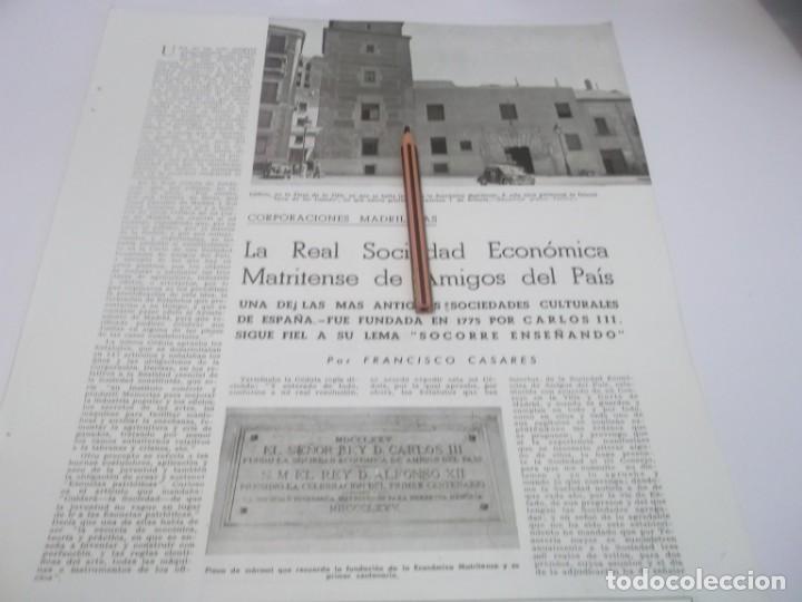 RECORTE AÑOS 50 60 - LA REAL SOCÍEDAD ECONÓMICA MATRITENSE DE AMIGOS DEL  PAÍS,FUNDADA EN 1711 950a7ad64d