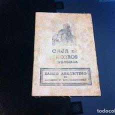 Coleccionismo Papel Varios: BANCO ARGENTINO DE AHORRO Y EDIFICACIONES. CAJA DE AHORROS PRIVILEGIADA. 1933. Lote 130992212