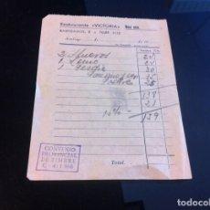 Coleccionismo Papel Varios: FACTURA (RESTAURANTE VICTORIA) SANTIAGO DE COMPOSTELA. TELÉFONO 1113. Lote 131032744
