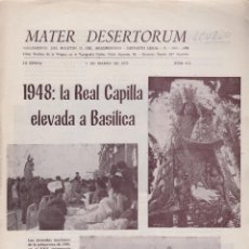 Sammelleidenschaft Andere Papierartikel - MATER DESERTORUM: ÉPOCA: III, Nº413.1948: LA REAL CAPILLA ELEVADA A BASÍLICA, VALENCIA 1972. LCV820 - 132257494