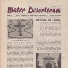 Sammelleidenschaft Andere Papierartikel - MATER DESERTORUM, ÉPOCA III Nº:68.UN LEGADO A LA VIRGEN, VALENCIA 1955. LCV822 - 132258910