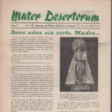 Sammelleidenschaft Andere Papierartikel - MATER DESERTORUM, ÉPOCA III. Nº:65. DOCE AÑOS SIN VERTE, MADRE...VALENCIA 1955. LCV824 - 132259518