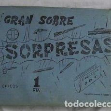 Altri oggetti di carta: GRAN SOBRE SORPRESAS CHICOS, 1967. Lote 132263766