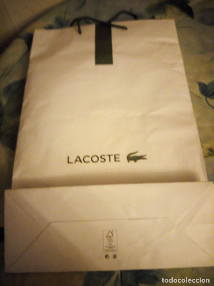Coleccionismo Papel Varios: bolsa de papel lacoste - Foto 3 - 132338918