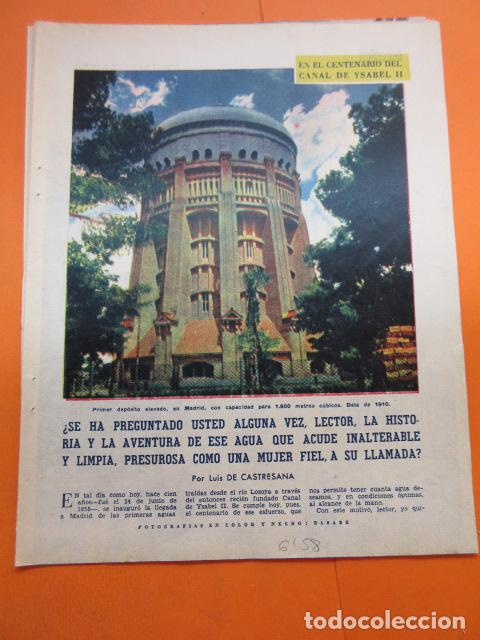 ARTICULO 1958 - CENTENARIO CANAL ISABLE II MADRID RIOSEQUILLO FUENTE CALLE SAN BERNARDO - 12 PAGINAS (Coleccionismo en Papel - Varios)