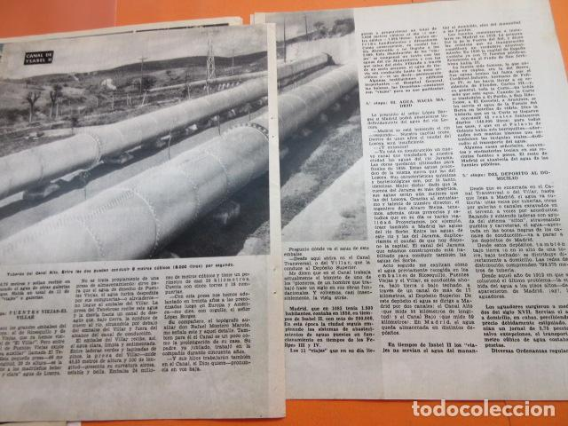 Coleccionismo Papel Varios: ARTICULO 1958 - CENTENARIO CANAL ISABLE II MADRID RIOSEQUILLO FUENTE CALLE SAN BERNARDO - 12 PAGINAS - Foto 4 - 132499674
