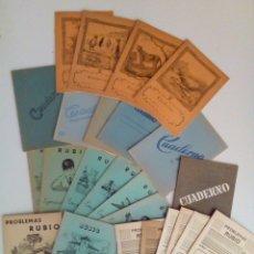 Coleccionismo Papel Varios: COLECCION DE 24 CUADERNOS ESCOLARES ANTIGUOS VARIADOS NUEVOS.. Lote 132508017