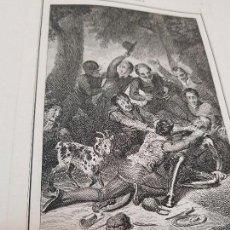 Coleccionismo Papel Varios: LUCHA DE D. QUIJOTE CON EL CABRERO WILLIAM MILLER LONDRES 1801. Lote 132629626