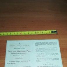 Coleccionismo Papel Varios: ESTAMPA ESQUELA MORTUORIA 1957. Lote 132718882