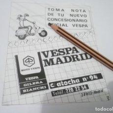 Coleccionismo Papel Varios: RECORTE PUBLICIDAD AÑO 1985 -MOTO VESPA - VESPA MADRID - . Lote 132718990