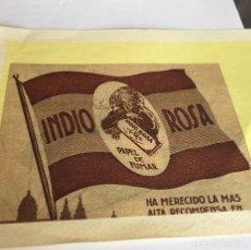 Coleccionismo Papel Varios: GRABADO PAPEL DE FUMAR INDIO ROSA. Lote 132904242