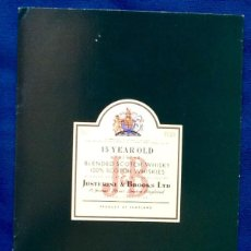 Coleccionismo Papel Varios: FOLLETO WHISKY JB.. AÑOS 80. ENVIO INCLUIDO.. Lote 133129794