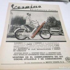 Coleccionismo Papel Varios: RECORTE PUBLICIDAD AÑOS 60 - MOTO-VESPA -VESPINO . Lote 133402034