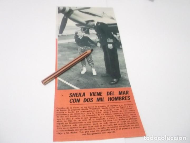 RECORTE PUBLICIDAD AÑOS 60 - SHEILA WAREHAM EN PORTAVIONES VICTORIOSO, usado segunda mano