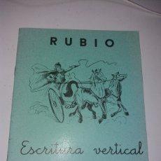 Coleccionismo Papel Varios: CUADERNILLO RUBIO EDICION COLECCIONISTA 2383 DE 3000 EJEMPLARES. Lote 133484726