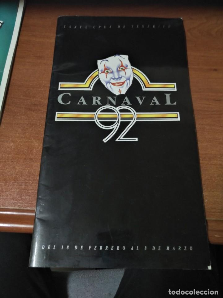 REVISTA PROGRAMA CARNAVAL DE TENERIFE 1992 (Coleccionismo en Papel - Varios)