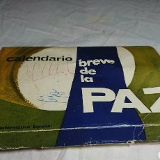 Coleccionismo Papel Varios: PROPAGANDA DEL FRANQUISMO: CALENDARIO BREVE DE LA PAZ CON 26 POSTALES, AÑO 1964. Lote 133981575
