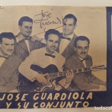 Coleccionismo Papel Varios: FOLLETO JOSE GUARDIOLA, (AUTÓGRAFO), TIERRA VALENCIANA, (VALENCIA). Lote 134180954